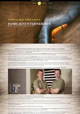 Webdesign Referenz - Innenausbau Thielemann