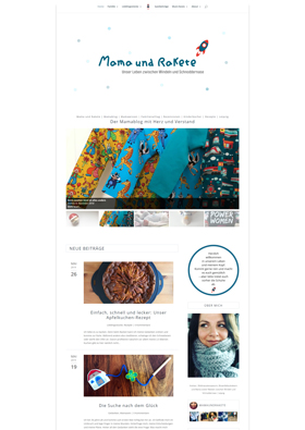 Webdesign Referenz - Mama und Rakete