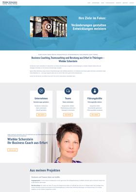 Webdesign Referenz - Business-Coach Wiebke Schorstein