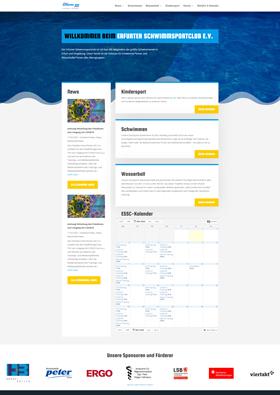 Webdesign Referenz - Erfurter Schwimmsportclub e.V.