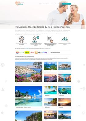 Webdesign Referenz - hochzeitsreise.info